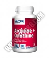 Jarrow Formulas Arginine + Ornithine 750mg. / 100 Tabs.