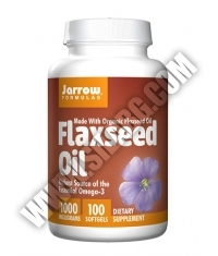 Jarrow Formulas Flaxseed Oil 1000mg. / 100 Soft.