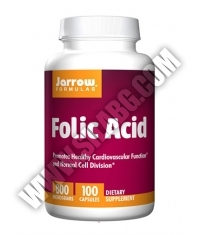 Jarrow Formulas Folic Acid 800mg. / 100 Caps.
