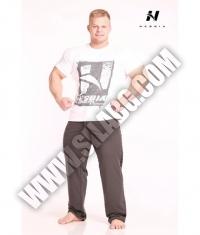 NEBBIA 966 Pants Fit Lampas / Grey