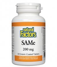NATURAL FACTORS SAMe 200 mg. / 30 Tabs.