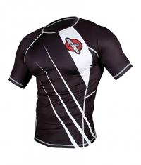 HAYABUSA FIGHTWEAR Recast Rashguard Short Sleeve / Black / White
