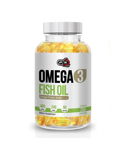 PURE NUTRITION Omega 3 Fish Oil 480/240 1000mg. 200 Softgels