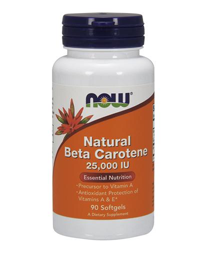 NOW Beta Carotene Natural 25.000 IU / 90 Softgels