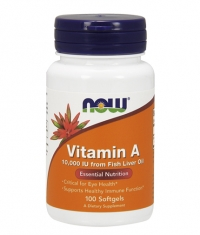 NOW Vitamin A 10,000 IU / 100 Softgels