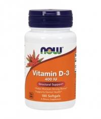 NOW Vitamin D-3 / 400 IU / 180 Softgels