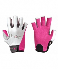 HARBINGER HUMANX Women's X3 Competition Open Finger Gloves GREY / PINK