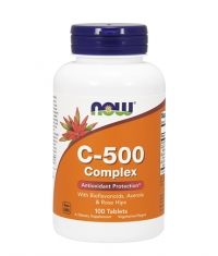 NOW Vitamin C-500 /Rose Hips/ 100 Tabs.