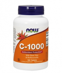 NOW Vitamin C-1000 with Rose Hips & Bioflavonoids 100tabs