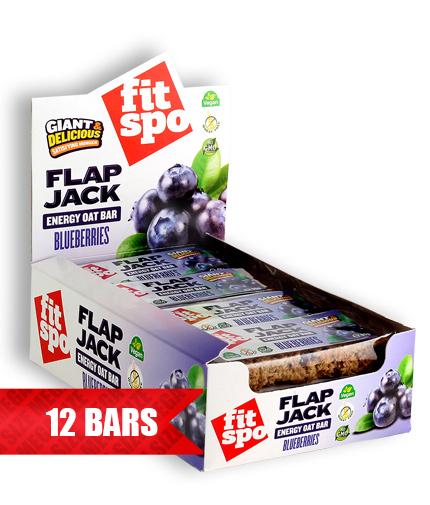 FIT SPO Flap Jack Energy Oat Bar 12 x 90g / Blueberries