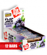 FIT SPO Flap Jack Energy Oat Bar 12 x 90g / Blueberries