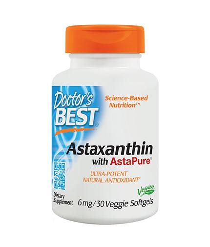 DOCTOR'S BEST Astaxanthin / 30 Veggie Soft.
