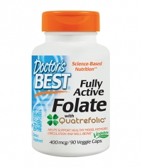 DOCTOR'S BEST Fully Active Folate 400mcg / 90 Vcaps.