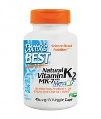 DOCTOR'S BEST Vitamin K2 MK-7 45mcg. / 60 Vcaps.