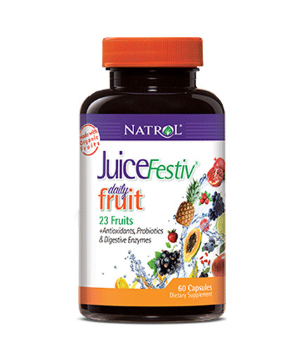 NATROL JuiceFestiv Daily Fruit / 120 Caps.