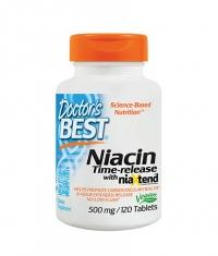 DOCTOR'S BEST Niacin 500mg. / 120 Tabs.