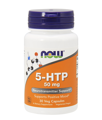 NOW 5-HTP 50mg. / 30 Vcaps.