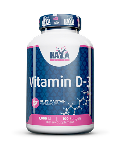 HAYA LABS Vitamin D-3 / 1000 IU / 100 Softgels