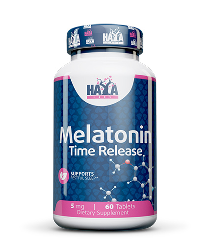 HAYA LABS Melatonin Time Release 5mg. / 60 tabs