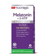 NATROL Advanced Sleep Melatonin + 5-HTP / 60 Tabs.