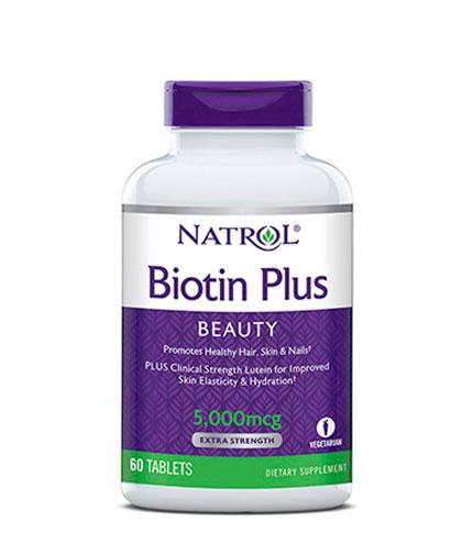 NATROL Biotin Plus Lutein / 60 Tabs.