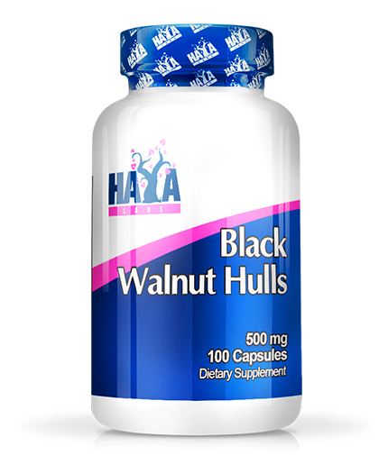 HAYA LABS Black Walnut Hulls 500mg. / 100 caps.