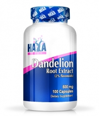 HAYA LABS Dandelion Root Extract (2% Flavonoids)  500mg / 100 Caps.