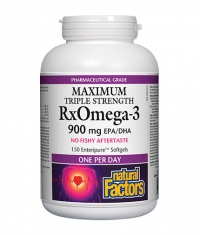 NATURAL FACTORS RX Omega 3 Triple Strength 900mg. / 150 Soft.