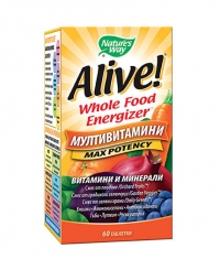 NATURES WAY Alive Whole Food Energizer Multi-Vitamins / 60 Tabs.