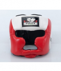 PULEV SPORT Headguard Cheek Protect / Red-White