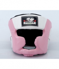 PULEV SPORT Headguard Cheek Protect / Pink-White