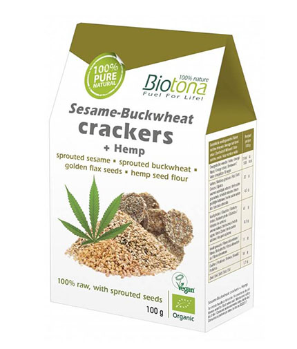 BIOTONA Sesame-Buckwheat Crackers