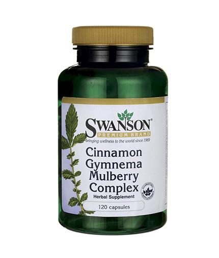 SWANSON Cinnamon Gymnema Mulberry Complex / 120 Caps.