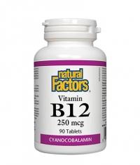 NATURAL FACTORS Vitamin B12 (Cyanocobalamin) 250mcg. / 90 Tabs.