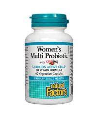 NATURAL FACTORS Women's Multi Probiotic / 60 Vcaps.