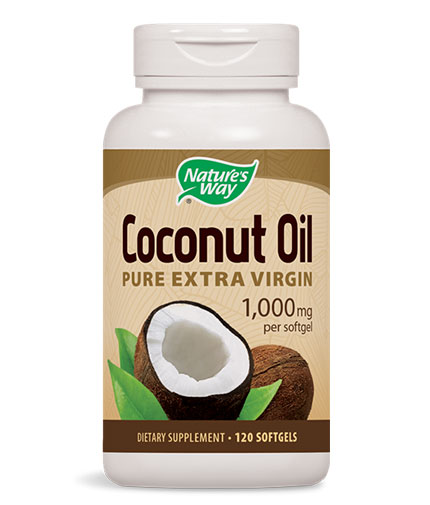 NATURES WAY Coconut Oil 1000mg. / 120 Soft.