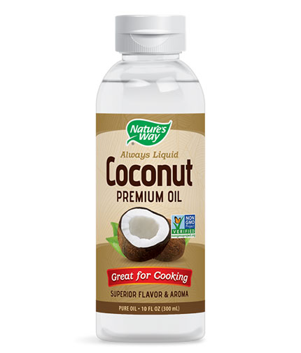 NATURES WAY Liquid Coconut Oil / 300ml.