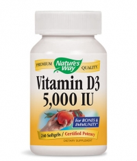 NATURES WAY Vitamin D3 5000 IU / 240 Soft.