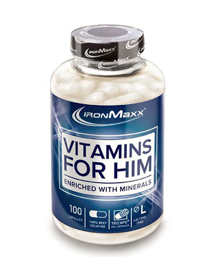 IRONMAXX VITAMINS FOR HIM / 100 Caps.