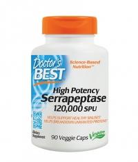 DOCTOR'S BEST High Potency Serrapeptase 120000 SPU / 90 Vcaps.