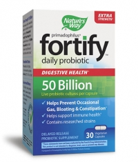 NATURES WAY Primadophilus Fortify Daily 50 Billion Probiotic / 30 Vcaps.