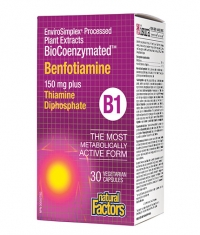 NATURAL FACTORS BioCoenzymated Benfotiamine 150 mg / 30 Vcaps.