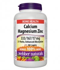 WEBBER NATURALS Calcium Magnesium Zinc 333/167/17mg / 200C***ets.