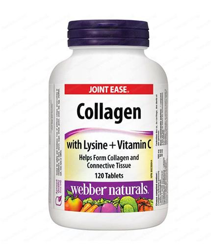 WEBBER NATURALS Collagen with Lysine + Vitamin C / 120Tabs.