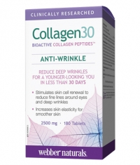WEBBER NATURALS Collagen30 Anti-Wrinkle 2500 mg / 180Tabs.