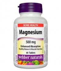 WEBBER NATURALS Magnesium 500mg / 60Tabs.