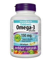 WEBBER NATURALS Children's Omega-3 150mg / 120Softgels.