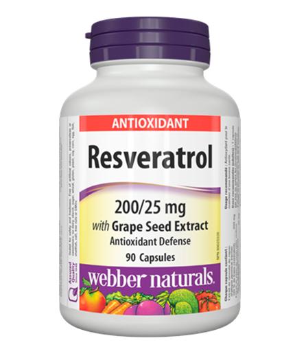 WEBBER NATURALS Resveratrol 200/25mg / 90Caps.