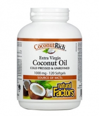 NATURAL FACTORS COCONUTRICH 1000mg. / 120 Soft.