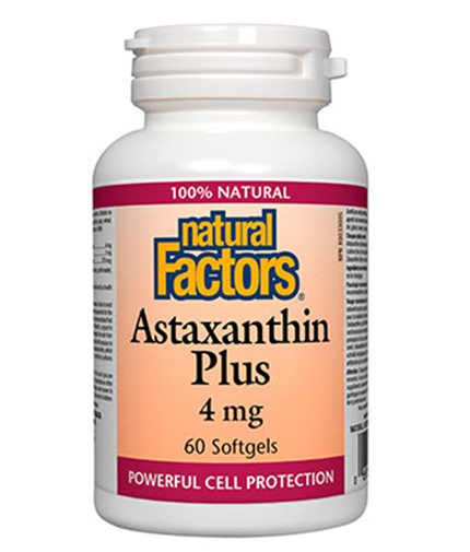 NATURAL FACTORS Astaxanthin Plus 4mg / 60 Soft.